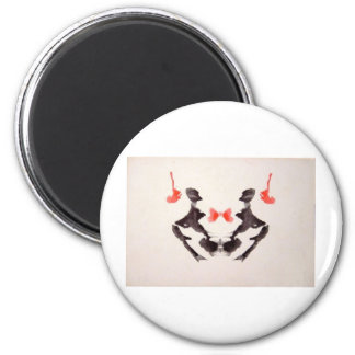 The Rorschach Test Ink Blots Plate 3 Two Humans Magnet