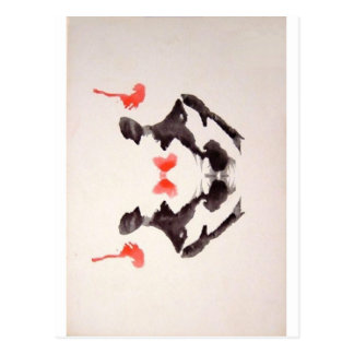 The Rorschach Test Ink Blots Plate 3 Two Humans Postcard