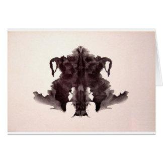 The Rorschach Test Ink Blots Plate 4 Animal Skin Card