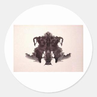 The Rorschach Test Ink Blots Plate 4 Animal Skin Classic Round Sticker
