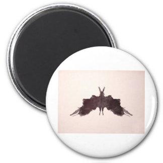 The Rorschach Test Ink Blots Plate 5 Bat Moth Magnet