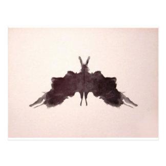 The Rorschach Test Ink Blots Plate 5 Bat Moth Postcard