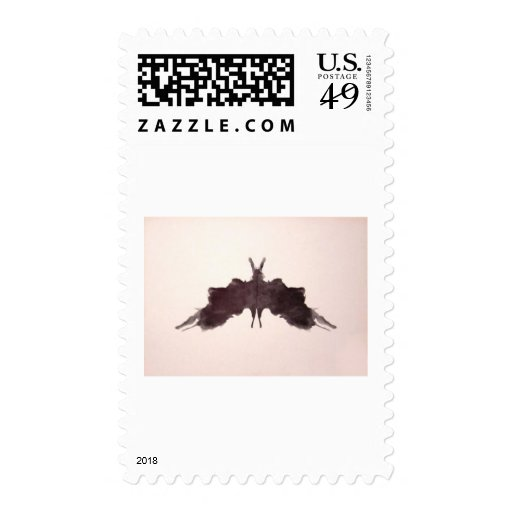 The Rorschach Test Ink Blots Plate 5 Bat Moth Stamps