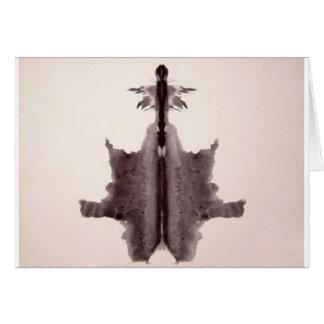 The Rorschach Test Ink Blots Plate 6 Hide Skin Rug Card