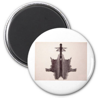 The Rorschach Test Ink Blots Plate 6 Hide Skin Rug Magnet