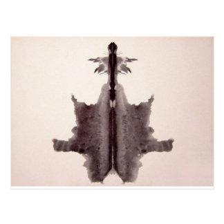 The Rorschach Test Ink Blots Plate 6 Hide Skin Rug Postcard