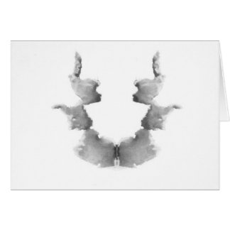 The Rorschach Test Ink Blots Plate 7 Heads Faces Card