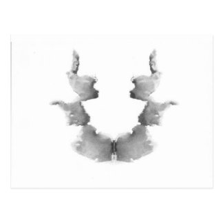 The Rorschach Test Ink Blots Plate 7 Heads Faces Postcard