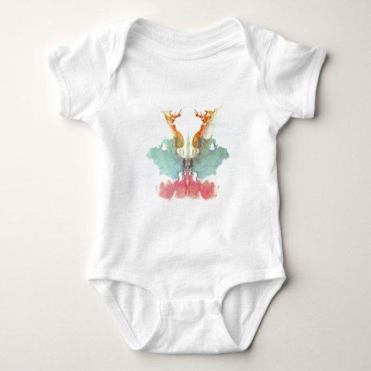 The Rorschach Test Ink Blots Plate 9 Human Baby Bodysuit