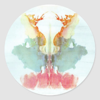 The Rorschach Test Ink Blots Plate 9 Human Classic Round Sticker