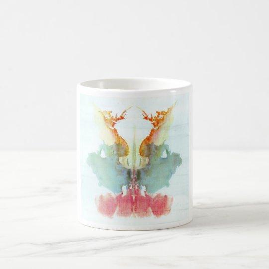 The Rorschach Test Ink Blots Plate 9 Human Coffee Mug