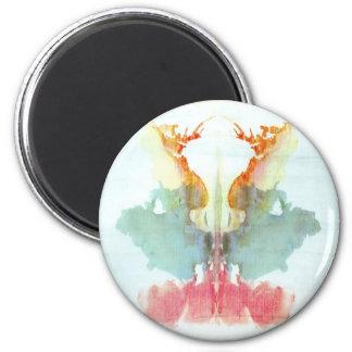 The Rorschach Test Ink Blots Plate 9 Human Refrigerator Magnet