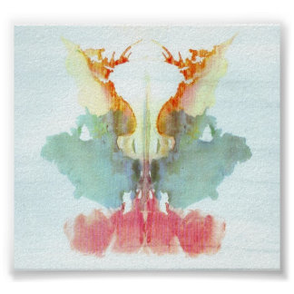 The Rorschach Test Ink Blots Plate 9 Poster