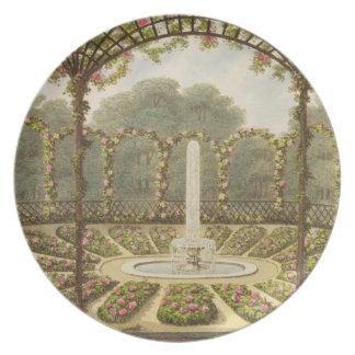 The Rosary at Ashridge, pub. by J. Taylor, 1816 (l Dinner Plates