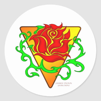 The Rose Classic Round Sticker