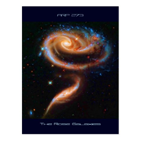 The Rose Galaxies, Arp 273 Postcard