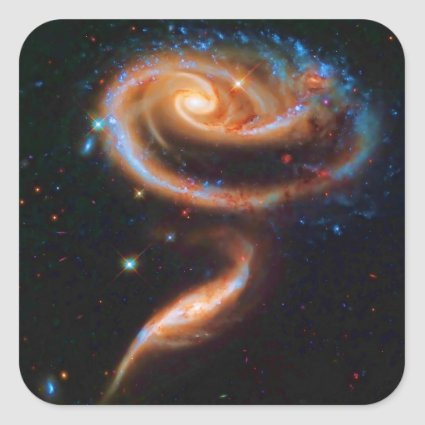 The Rose Galaxies, Arp 273 Square Sticker
