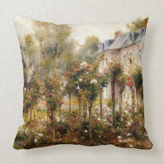 The Rose Garden at Wargemont Throw Pillow