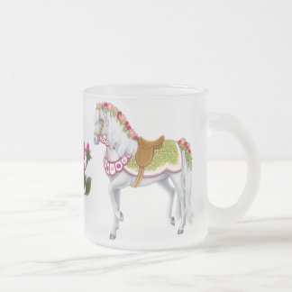 The Rose Horse Frosted Glass Mug