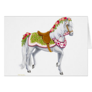The Rose Horse Greeting Card