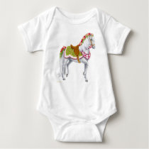 The Rose Horse Infant Baby Bodysuit