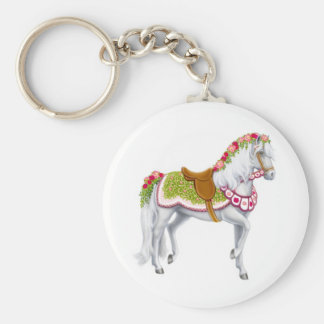 The Rose Horse Keychain