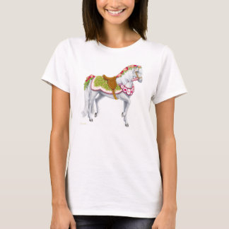 The Rose Horse Ladies Baby Doll Shirt
