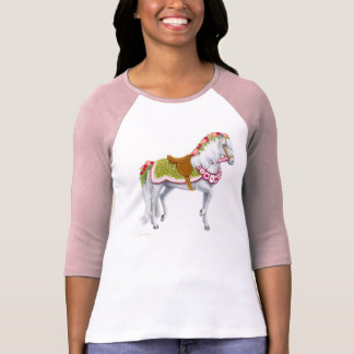 The Rose Horse Ladies Raglan Jersey T-Shirt