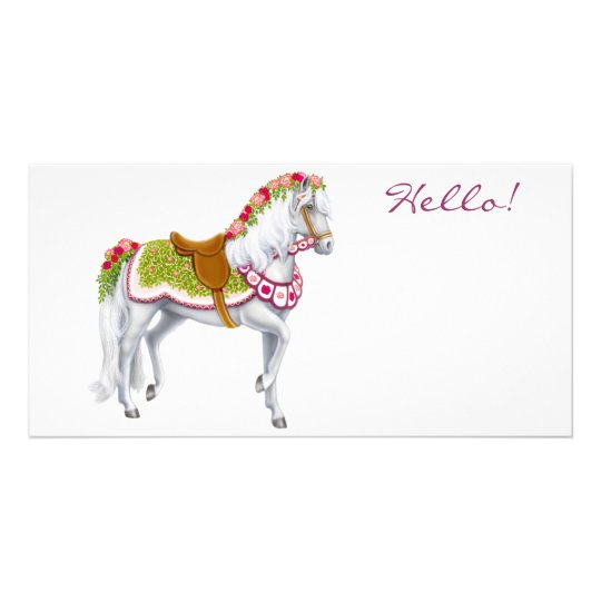 The Rose Horse Photo Card