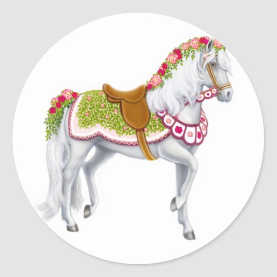 The Rose Horse Sticker