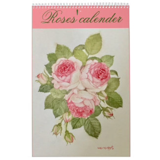 The rose it is distant the calendar of the flower