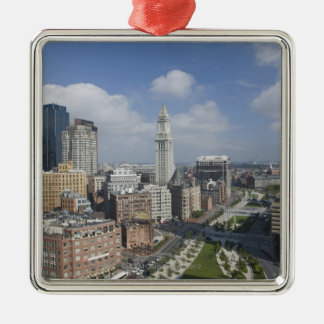 The Rose Kennedy Greenway of Boston, M Square Metal Christmas Ornament