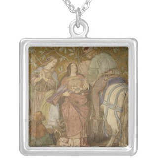 The Rose Miracle, c.1855 Silver Plated Necklace