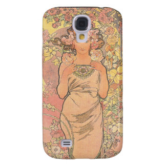 The Rose - Mucha Samsung Galaxy S4 Cover