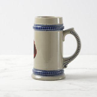 The rose 18 oz beer stein