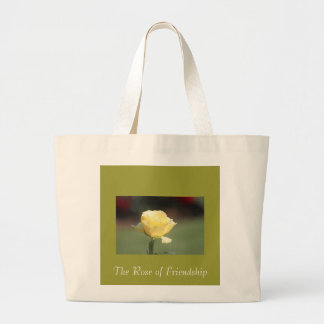 The Rose of Friendship Canvas Bag
