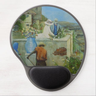 The Rose. People in a Victorian flower garden. Gel Mouse Pad