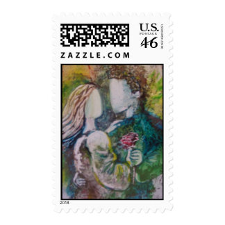 The Rose Postage Stamp