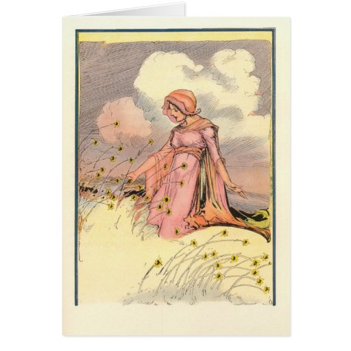The Rose Princess speaks with the flowers Card