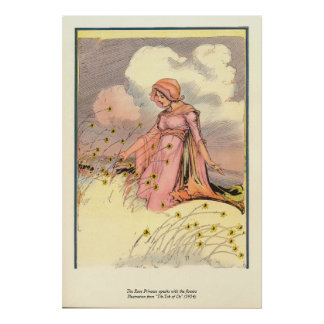 The Rose Princess speaks with the flowers Poster
