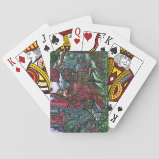 The Rose Queen Unicorn Fairy Playing Cards