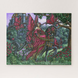 The Rose Queen Unicorn Fairy Puzzel Jigsaw Puzzle