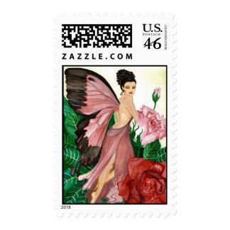 The Rosebush Fairy Stamp
