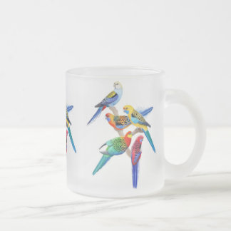 The Rosella Parrots Frosted Mug