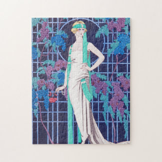 The Roses and the Night Art Deco Jigsaw Puzzle