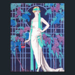 """The Roses and the Night Art Deco Photo Print<br><div class=""""desc"""">The Roses and the Night Art Deco print. Art Deco illustration from 1920s. French artist Georges Barbier painted lovely depictions of Paris during the 1920s. His work often featured ladies and couples in states of repose, ennui, and slight boredom. The Roses and the Night depicts a beautiful young blonde in...</div>"""