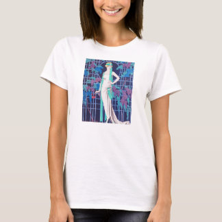 The Roses and the Night Art Deco T-shirt