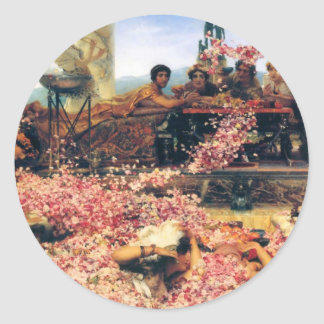The Roses of Heliogabalus by Lawrence  Alma-Tadema Classic Round Sticker