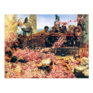 The Roses of Heliogabalus by Lawrence  Alma-Tadema Post Card