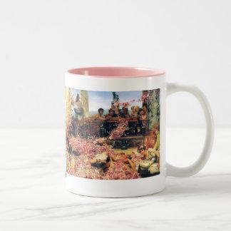 The Roses of Heliogabalus by Lawrence  Alma-Tadema Two-Tone Coffee Mug
